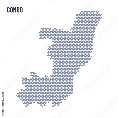 Vector hexagon map of Congo on a white background - Buy this