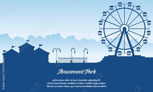 Scenery amusement park style background Fototapete