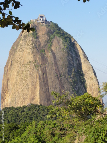 Fotografiet  Sugarloaf mountain and view, Rio , Brazil