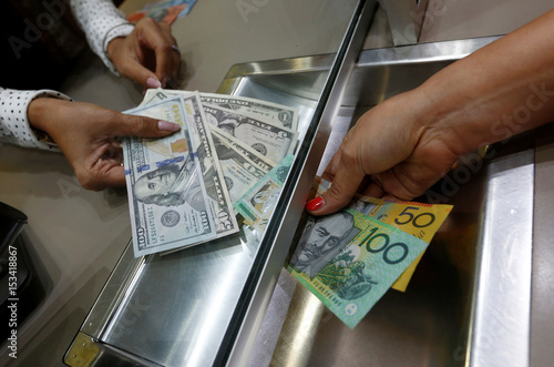 Australian Dollar And U S Denominations Are Shown In A Photo Ilration At Currency Exchange