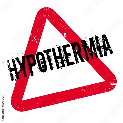 Fényképezés Hypothermia rubber stamp