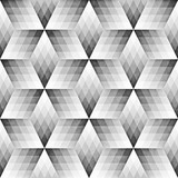 Seamless Monochrome Pattern. Grungy Geometric Shapes Tiling. - 153462655