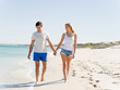 Romantic young couple on the beach
