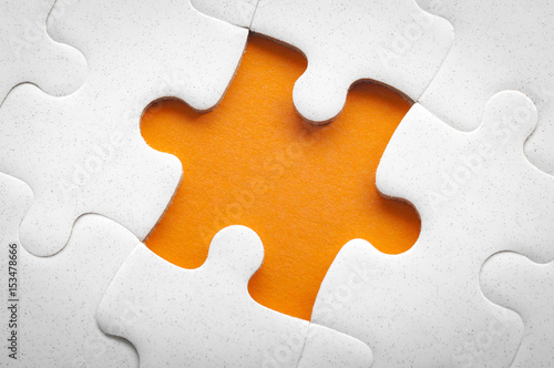 Completing Final Task Missing Jigsaw Puzzle Pieces And Business Concept With A Piece