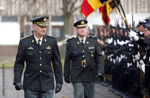 c8f884cc324 Belgium s King Philippe reviews troops during a visit to the military staff  at the Belgian army