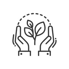 Plant Of Life- Modern Vector Single Line Icon