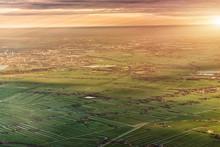 Aerial View Of Amsterdam. Neth...