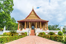 Beautiful Architecture At Haw Phra Kaew Temple