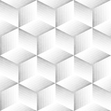 Seamless Monochrome Pattern. Grungy Geometric Shapes Tiling. - 153532430