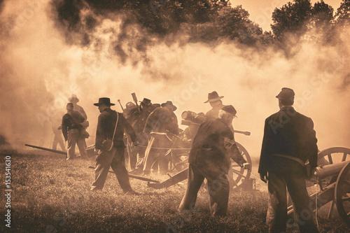 Civil War reenactment Fototapeta