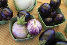 Eggplants For Sale At The Bloo...