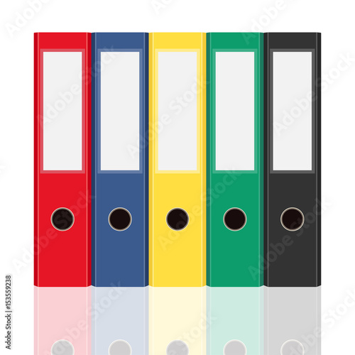Side view office set Waiting Room Closed Office Binders Set Isolated On White Background Side View Vector Illustration Adobe Stock Closed Office Binders Set Isolated On White Background Side View