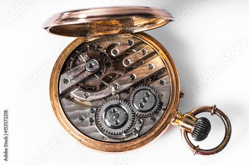 Fotografía  montre/intérieur d'une vieille montre