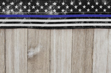 Thin Blue Line USA Old Flag On...