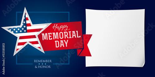 Fotografía  Memorial day remember & honor banner template