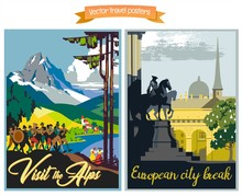 Travel Poster Vectors Illustra...