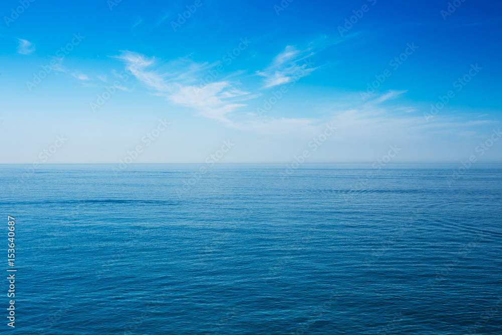 Fototapety, obrazy: Sea Ocean And Blue Clear Sky Background