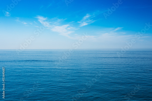 Foto auf Gartenposter See / Meer Sea Ocean And Blue Clear Sky Background