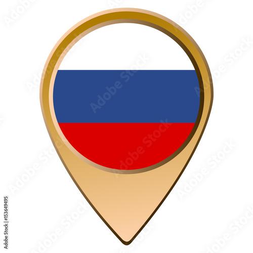 Plakat Rosyjska flaga na białym tle