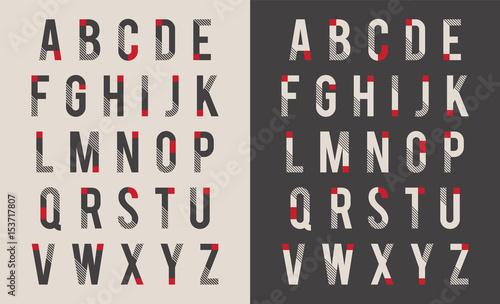 Pinturas sobre lienzo  Decorative alphabet vector font