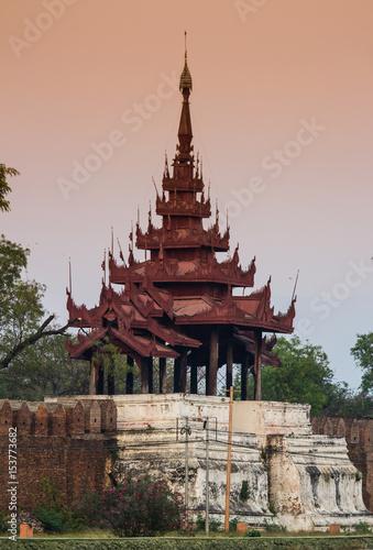 Mandalay palace wall Poster