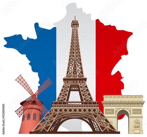 Photo landmarks of france