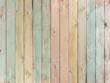 canvas print picture - wood background or texture with planks pastel colored
