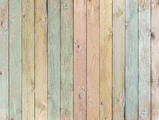 Fototapeta Skandynawski wood background or texture with planks pastel colored