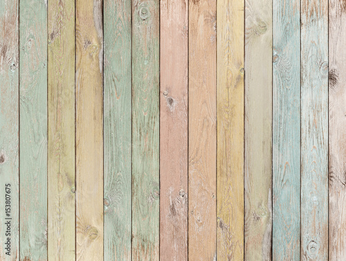 Tuinposter Hout wood background or texture with planks pastel colored