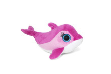 Pink Dolphin Toy Isolated On White Background