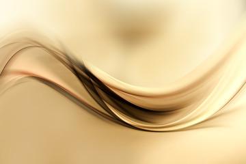 Dynamic sensitive background powerful design. Gold brown blurred color waves design.