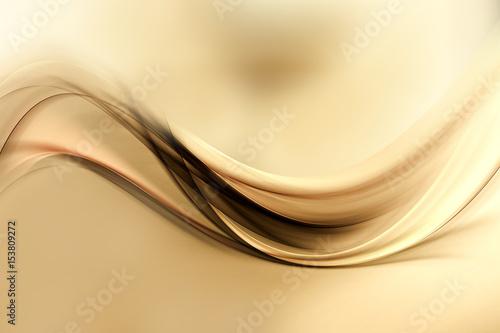 In de dag Fractal waves Dynamic sensitive background powerful design. Gold brown blurred color waves design.