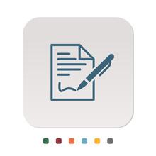 Papier Icon - Vertrag