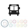 Bunte 3D Buttons - Bus