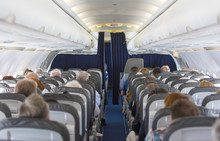 Aircraft Cabin With Passengers