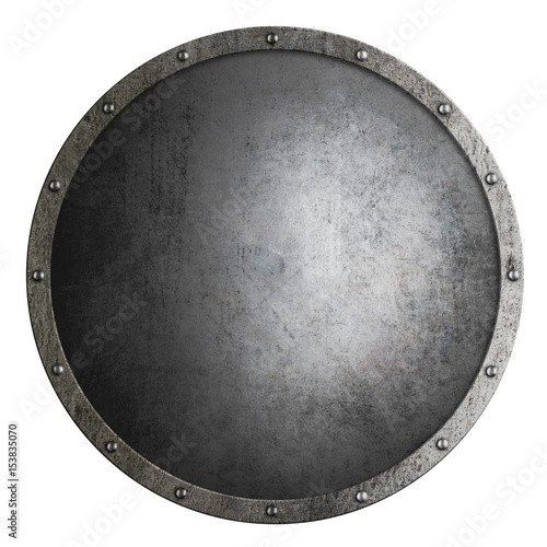 medieval round shield isolated 3d illustration Wall mural
