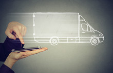 Delivery Service Via Modern Te...