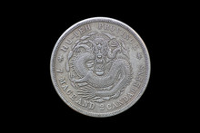 Old Chinese Coin With Dragon I...