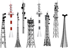 Group With Nine Antenna Towers...