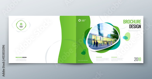 Poster Blanc Brochure template layout, cover design annual report, magazine, flyer or booklet in A4 with geometric shapes. Vector Illustration.