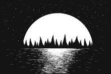 Seascape Of Night Sea