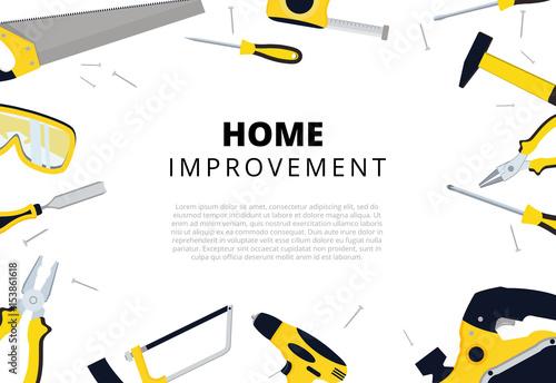 Fotografía  Home improvement background with repair tools