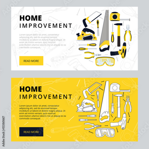 Home improvement corporate web banner template house for Home building websites