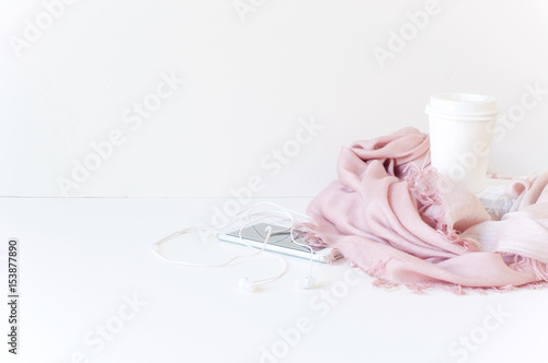 Styled Desktop Mockup composition stock photography, white background, copy space, great for lifestyle bloggers and small businesses