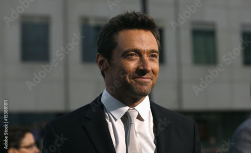 Cast Members Jackman Poses At The Premiere Of His Film Prisoners
