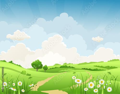 Summer natural landscape