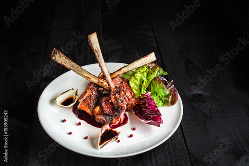 Tablou Canvas Gourmet Main Entree Course Grilled rack of lamb