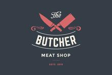 Emblem Of Butcher Meat Shop Wi...
