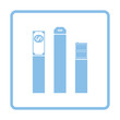 Oil, dollar and gold chart concept icon