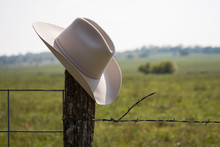 Cowboy Hat Alone In Country